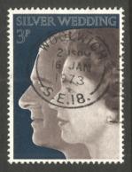 GREAT BRITAIN. QE2. 3p SILVER WEDDING USED WOOLWICH POSTMARK - 1952-.... (Elizabeth II)