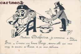 CARICATURE MILITAIRE DOCTEUR DIAFOIRUS ILLUSTRATEUR ORAMUS KAISER GUILLAUME II GUERRE PATRIOTISME POLITIQUE KRIEG - Patriotic