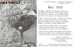PATRIOTIQUE H. ODEN'HAL ANDRE SORIAC POILU 52e TERRITORIAL INFANTERIE CIGALIA PATRIOTISME MUGUET 1915 GUERRE KRIEG - Heimat