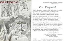 PATRIOTIQUE Mme LABROUSSE POILU ANDRE SORIAC 52e REGIMENT INFANTERIE CARTES-SONNETS CIGALIA PATRIOTISME GUERRE - Heimat