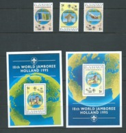 St Vincent & Grenadines 1995 Boy Scout Jamboree Set 3 & 2 Miniature Sheets MNH - St.Vincent Y Las Granadinas