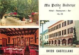 "/ CPSM FRANCE 04 ""Castellane, Ma Petite Auberge, Hôtel Restaurant"" - Castellane"