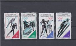 DDR 1988 Calgaryl Olympic Games 4 Stamps MNH/** (H50) - Winter 1988: Calgary