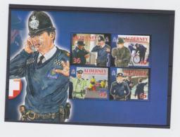 Alderney 2003 Police Four Stamps MNH/** (H50) - Police - Gendarmerie