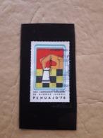 Chess, Argentina Vignette XXIVe Tournoi D'Arts Jeunes D'Argentine, Pehuajo - Schach