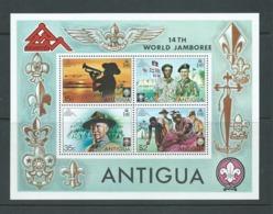 Antigua 1975 Boy Scout Jamboree Miniature Sheet MNH - 1960-1981 Ministerial Government