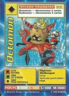 B - CARTE DIGIMON OCTOMON 1ERE EDITION JD-37 FR ETAT MOYEN (Plis Coin Inférieur Gauche) - Non Classés