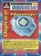 B - CARTE DIGIMON DIGIVOLVE DIGIVICE ROUGE 1ERE EDITION JD-59 FR ETAT COURANT - Non Classés