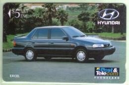Fiji - 1992 Martin Motor Co - $5 Hyundai Excel - FIJ-009 - FU - Figi