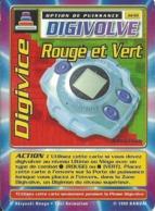 B - CARTE DIGIMON DIGIVOLVE DIGIVICE ROUGE ET VERT 1ERE EDITION JD-61 FR ETAT COURANT - Trading Cards