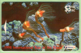 Fiji - 1998 Year Of The Oceans - $3 Hydroid Tubularia - FIJ-120 - VFU - Fiji