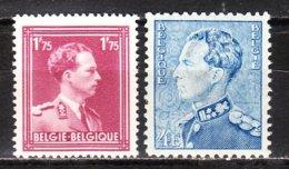 832/33**  Poortman Et Leopold III Col Ouvert - Série Complète - MNH** - COB 4.50 - Vendu à 13% Du COB!!!! - 1936-51 Poortman