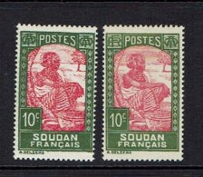 FRENCH SUDAN...one With And One Without RF - Soudan (1894-1902)
