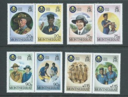 Montserrat 1986 Girl Guide Anniversary Set Of 4 Pairs MNH - Montserrat