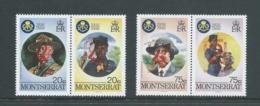 Montserrat 1995 Boy Scout Jamboree Overprints On Girl Guide Anniversary Set Of 2 Pairs MNH - Montserrat