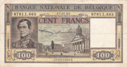 Belgique - Billet De 100 Francs - Léopold Ier - 27 Juillet 1950 - P126 - 100 Frank