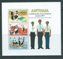 Barbuda 1978 Overprint On Antigua Boy Scout Jamboree Miniature Sheet MNH - 1960-1981 Ministerial Government