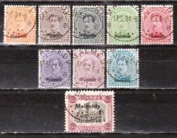 OC62/69 + OC74  Timbres De 1915 Surchargé MALMEDY - Bonnes Valeurs - Oblit. - LOOK!!!! - Guerra 14 – 18
