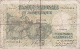 Belgique - Billet De 50 Francs Ou 10 Belgas - 4 Janvier 1937 - P106 - [ 2] 1831-... : Regno Del Belgio