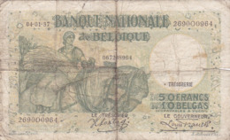 Belgique - Billet De 50 Francs Ou 10 Belgas - 4 Janvier 1937 - P106 - [ 2] 1831-... : Koninkrijk België