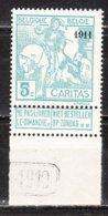96**  Caritas Surchargé 1911 - Bonne Valeur - MNH** - LOOK!!!! - 1910-1911 Caritas