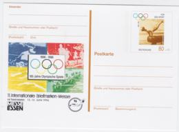 Germany Postal Stationary 1996 Atlanta Olympic Games W/print Messe Essen Mint (G103-26) - Summer 1996: Atlanta