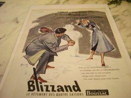 ANCIENNE  PUBLICITE VETEMENT DES QUATRES SAISONS BOUSSAC  1955 - Vintage Clothes & Linen