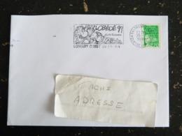 LONGWY C. DIST - MEURTHE ET MOSELLE - FLAMME LOBEDE 99 BANDE DESSINEE SUR MARIANNE LUQUET - Poststempel (Briefe)