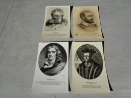 Beau Lot De 60 Cartes Postales De Personnes Célèbres Peintre  Poète Famille Royale écrivain Philosophe - 60 Scans - Postales
