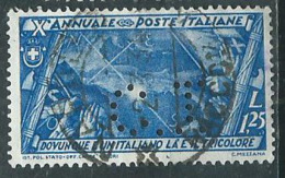 Timbre Italie Perforé CI - Usati