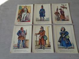Beau Lot 24 Cartes Postales De Types Et Costumes Brabançons Vers 1835 - Illustrateur J. Thiriar - 4 Series De 6 C. P. - Cartes Postales