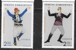 TURKEY, 2019, MNH, DANCES, COSTUMES, 2v - Tanz