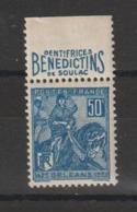 France 257 Avec Bande Pub Benedictins ** MNH - Werbung