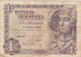 Espagne - Billet De 1 Peseta - Dame D'Elche - 19 Juin 1948 - P135a - [ 3] 1936-1975: Franco