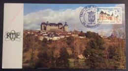 CM631 Hautefort Publicité ORTF France Inter Pour Restauration Château PJ 5/4/1969 Carte Maximum 1596 - Maximumkarten