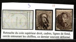 Medaillons 10 Centimes Avec Variété - Retouche Du Coin Supérieur Droit, Cadre, Lignes Du Fond Et Cercle Des Chiffres - Belgium