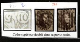 Medaillons 10 Centimes Avec Variété - Cadre Supérieur Doublé - Belgium
