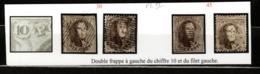 Medaillons 10 Centimes Avec Variété - Double Frappe à Gauche - Belgium