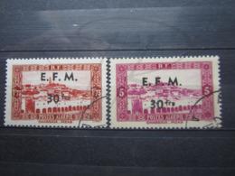 VEND BEAUX TIMBRES TELEGRAPHES D ' ALGERIE N° 1 + 2 !!! - Algérie (1924-1962)