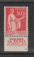 France 283 Avec Bande Pub La Perle ** MNH - Advertising