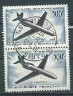 Timbre France Poste Aerienne 1957-59 Yvt 36 Obliteration Paris La Boetie - 1927-1959 Gebraucht