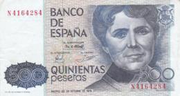 Espagne - Billet De 500 Pesetas - Rosalia De Castro - 23 Octobre 1979 - [ 4] 1975-…: Juan Carlos I.