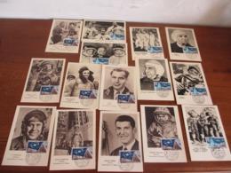 """BEAU LOT THÈME PIONNIERS DE L'ESPACE 15 CARTES """"LE BOURGET 1963"""" VOIR SCAN - Espace"""