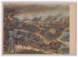 DT- Reich (001354) Propagandakarte, Artellerie Mot. Im Kampf, Ungebraucht - Allemagne