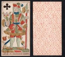 (Kreuz Ritter) - Original 18th Century Playing Card From Liege (by Dubois) / Carte A Jouer / Spielkarte - Taro - Toy Memorabilia