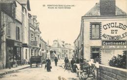 CPA 44 Loire Atlantique Inférieure Pontchâteau Route De Saint Gildas St Cycles Et Automobiles - Pontchâteau
