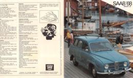 "08734 ""SAAB '68 - BREAK V4"" PIEGHEVOLE PUBBL. ORIG. IN LINGUA FRANCESE - Pubblicitari"