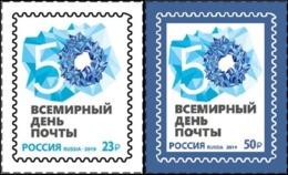 Russia, 2019, Mi. 2770-71, World Post Day, Self-adhesive - 1992-.... Federation