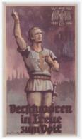 Dt.- Reich (001362) Propaganda WHW Türblatt, Verschworen In Treue Zum Volk, 1935/ 36 - Germania