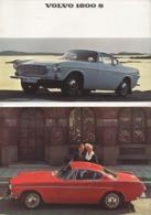 """08735 """"VOLVO 1800 S - 1966"""" PIEGHEVOLE PUBBL. ORIG. IN LINGUA INGLESE - Pubblicitari"""